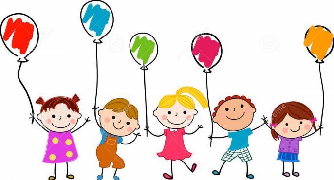 Group children balloon cartoon 35469201 2